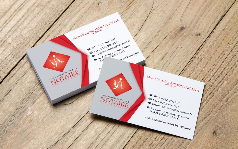 Logo Et Cartes De Visite Pour Une Notaire